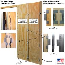Pocket Door Frame Plywood Clip Set | Johnsonhardware.com | Sliding ...