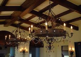 wonderful rustic chandeliers cabin lighting round iron chandelier with crystal and 6 light cream wall and roof