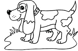 Black And White Coloring Pages Of Dogs Dogs Coloring Page Prairie