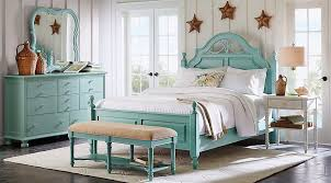 beachy bedroom furniture. Seaside Blue/Green Low Poster 7 Pc King Bedroom Beachy Furniture I