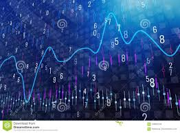 Forex Chart Wallpaper Stock Image Image Of Growth Digits