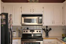 kitchen cabinet with microwave shelf refinishing and painting wall mounted old oak kitchen cabinet with white