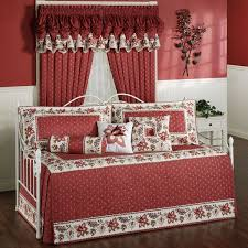 beautiful red white daybed covers decorative pillows white daybed wood flooring
