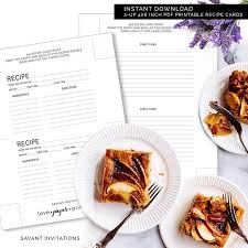 Where To Buy Recipe Cards In Stores Printable Recipe Cards Double Sided Recipe Card Printable Pdf Printable 4x6 Recipe Cards Instant Download