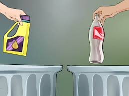 how to recycle empty oil containers