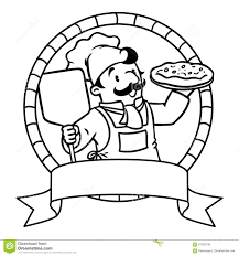 Coloring Book Emblem With Funny Cook Or Chef Stock Vector Image L