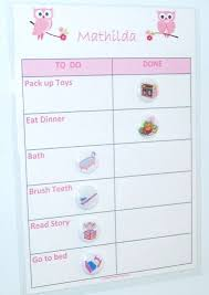 Bedtime Chart Girls Bedtime Routine Reward Chart With Magnets