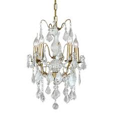 small french gold 5 branch chandelier