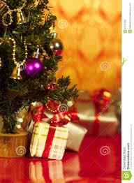 Christmas Presents Or Gifts Under Tree Vertical Stock Image Image