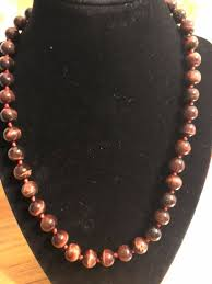 red tigers eye necklace 20