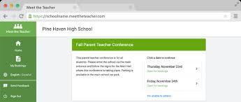 Meet The Teacher Online Parent Teacher Conference Booking Web