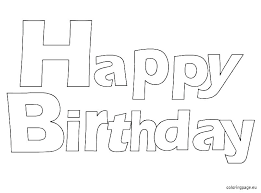 Printable Happy Birthday Coloring Pages For Mom To Print Pdf