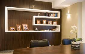 alluring design ideas of home office interior with brown wooden table and leather chairs also unique architect office design ideas