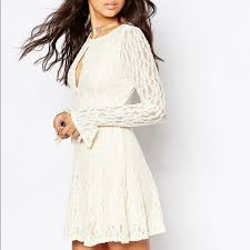 Nwt Free People Lace Detail Cream Dress Nwt