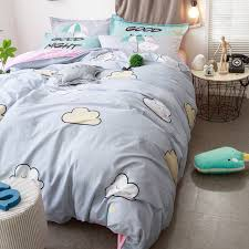 cute bed comforters. Exellent Comforters Brief Grey Bedding Set 100 Cotton Duvet Cover Bed Sheet Pillow Case Cute  Cartoon Print And Cute Comforters S