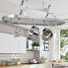 Pot Rack With Lights Home Depot Enclume Handcrafted Scroll Arm Oval Ceiling Pot Rack With 24