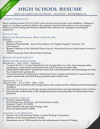 Sample College Resumes For High School Seniors Application Resume