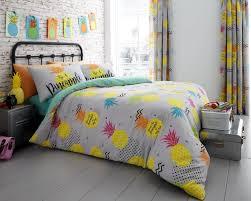 modern duvet cover bedding quilt set all sizes linenstar pineapple duvet