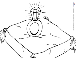 Pillow Coloring Page Printable Ring On Pillow Coloring Page Multiple