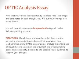 optic analysis of maoist propaganda ap english language and  optic analysis essay now that you ve had the opportunity to close the image