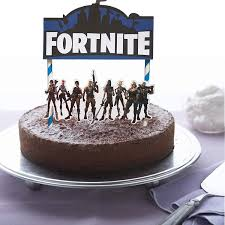 Amazoncom Bestballoons Fortnite Video Game Cake Topper 7 Inch