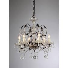 warehouse of tiffany idina 6 light antique bronze hanging chandelier