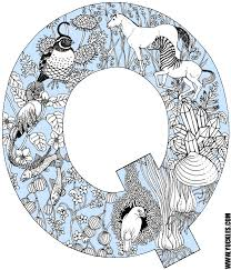 Small Picture Letter Q Coloring Page by YUCKLES