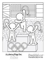 Custom Coloring Pages For Kids With Free Personalized Olympic