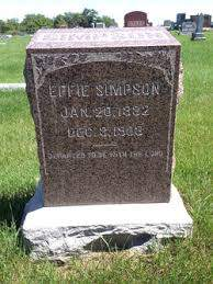 Effie Simpson (1882-1903) - Find A Grave Memorial