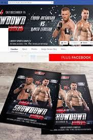 Mma Showdown Boxing Free Flyer Template Psd Flyer Best