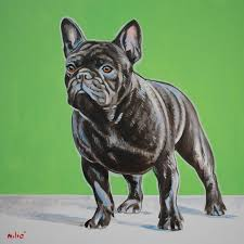 viana s champion frenchie 30x30 oil on canvas by drago milic french bulldog