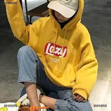 <b>Harajuku Korean</b> Hooded Thick Coat Jacket Lazy Tops <b>Sweatshirt</b> ...