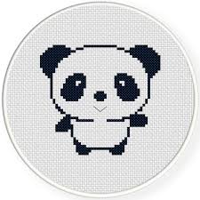 Easy Cross Stitch Patterns Best FREE Cutey Panda Cross Stitch Pattern Daily Cross Stitch