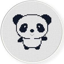 Easy Cross Stitch Patterns Best FREE Cutey Panda Cross Stitch Pattern Daily Cross Stitch