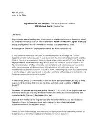 Breach Of Employment Contract Enchanting Superintendent Mort ShermanYou Are In Breach Of Contract By The