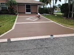 our company offers driveway painting and other concrete surface painting at very fair and affordable rates call today for a free estimate 772 626 7159