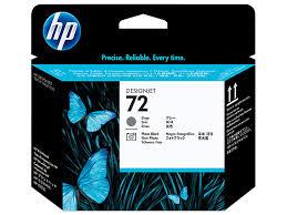 HP 72 <b>Gray</b> and Photo <b>Black</b> DesignJet Printhead, C9380A
