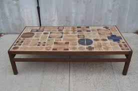 ... Brown Rectangle Antique Tile Top Coffee Table Design Ideas For Living  Room Arrangement Ideas ...