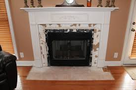 Tile Fireplace Makeover Brick Fireplace Makeover Renewing The Design Of Fireplace