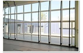eight liftstraps and a top drive electric motor easily open the glass bifold door and will give students a nice view and outdoor access to and from the