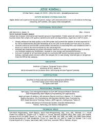 Business Systems Analyst Resume Free Resume Templates 2018