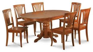 east west avon 7 piece 60 x42 oval dining table set with 6