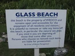 wedco glass beach sign