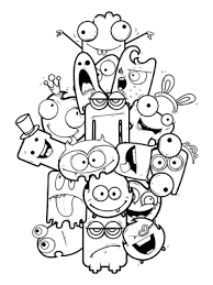 Kleurplaat Monsters Vs Aliens Kids N Fun Com 21 Coloring Pages Of