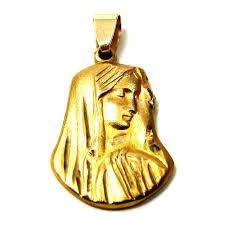child pendant gold madonna