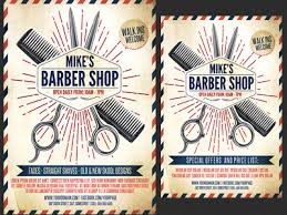barber flyer barber shop promotion flyer template by christos andronicou dribbble