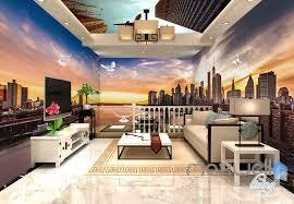 modern office wallpaper. 3D Modern Bridge City Entire Living Room Office Wallpaper Wall Mural Art IDCQW-000259