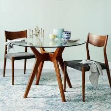 ... Jensen Round Glass Dining Table  West Elm