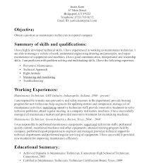 Maintenance Mechanic Resume Sample Millwright Resume Example Simple Resume Format