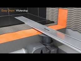 linear shower drain installation easy drain waterstop english you